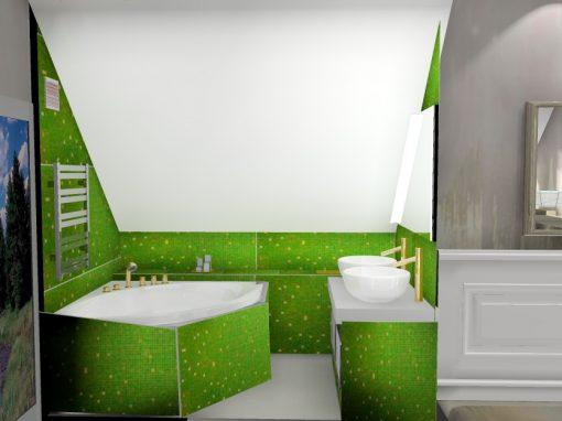 Grønt baderom