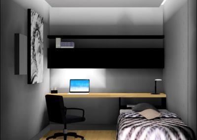 Moderne hjemmekontor og gjesterom